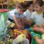 Taller con frutas en Los Nidos